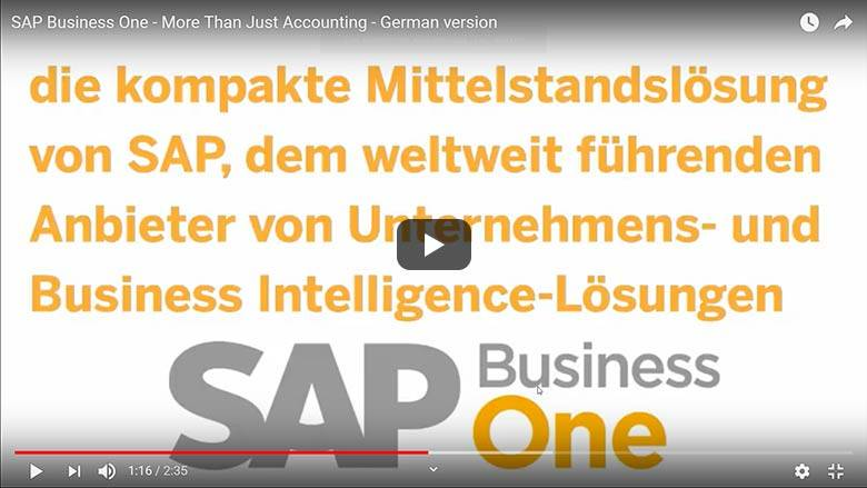 Accounting with SAP Business One
