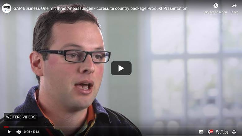 coresuite country package product presentation