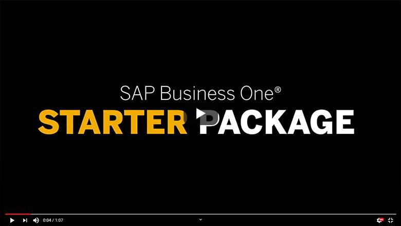 SAP Business One Starter Package for small and medium-sized companies