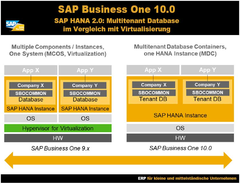 SAP Business One 10 SAP HANA 2 Multitenant Database Containers